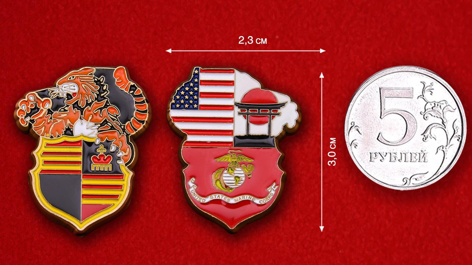 Челлендж коин Корпуса морской пехоты США в Японии