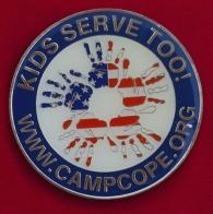 Челлендж коин лагеря для детей погибших или получивших ранения военнослужащих Camp C.O.P.E., США