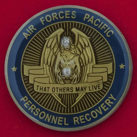 Челлендж коин лечебно-эвакуационной службы Тихоокеанского командования ВВС США