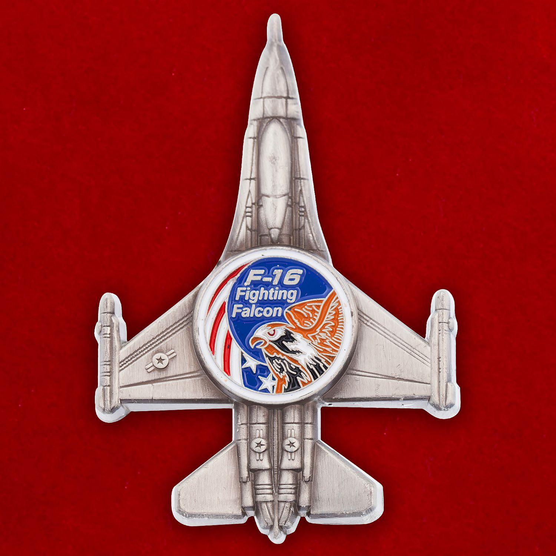 """Челлендж коин """"Легкий истребитель ВВС США F-16 Fighting Falcon"""""""