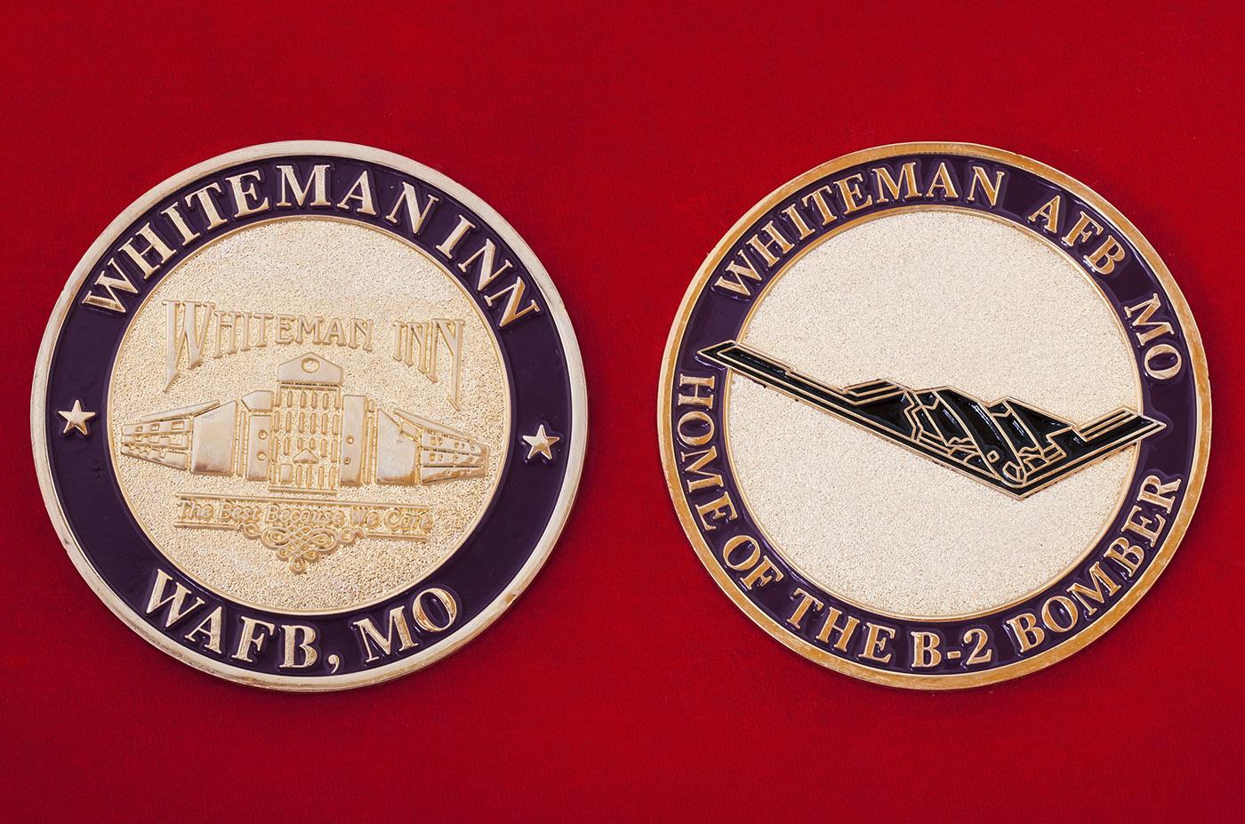 Челлендж коин личного состава авиабазы Уайтмен ВВС США