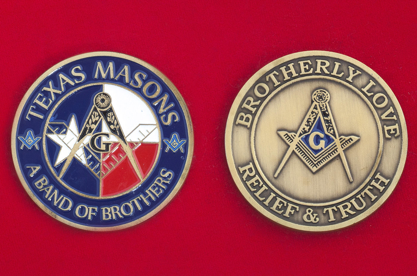 Челлендж коин масонов штата Техас