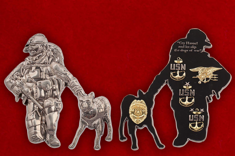 """Челлендж коин """"Мастер по оружию ВМС США"""" - аверс и реверс"""