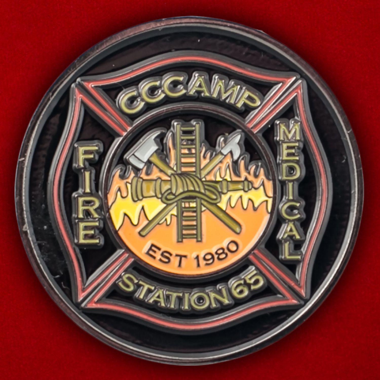 Челлендж коин медиков 65-й станции Добровольной пожарной охраны