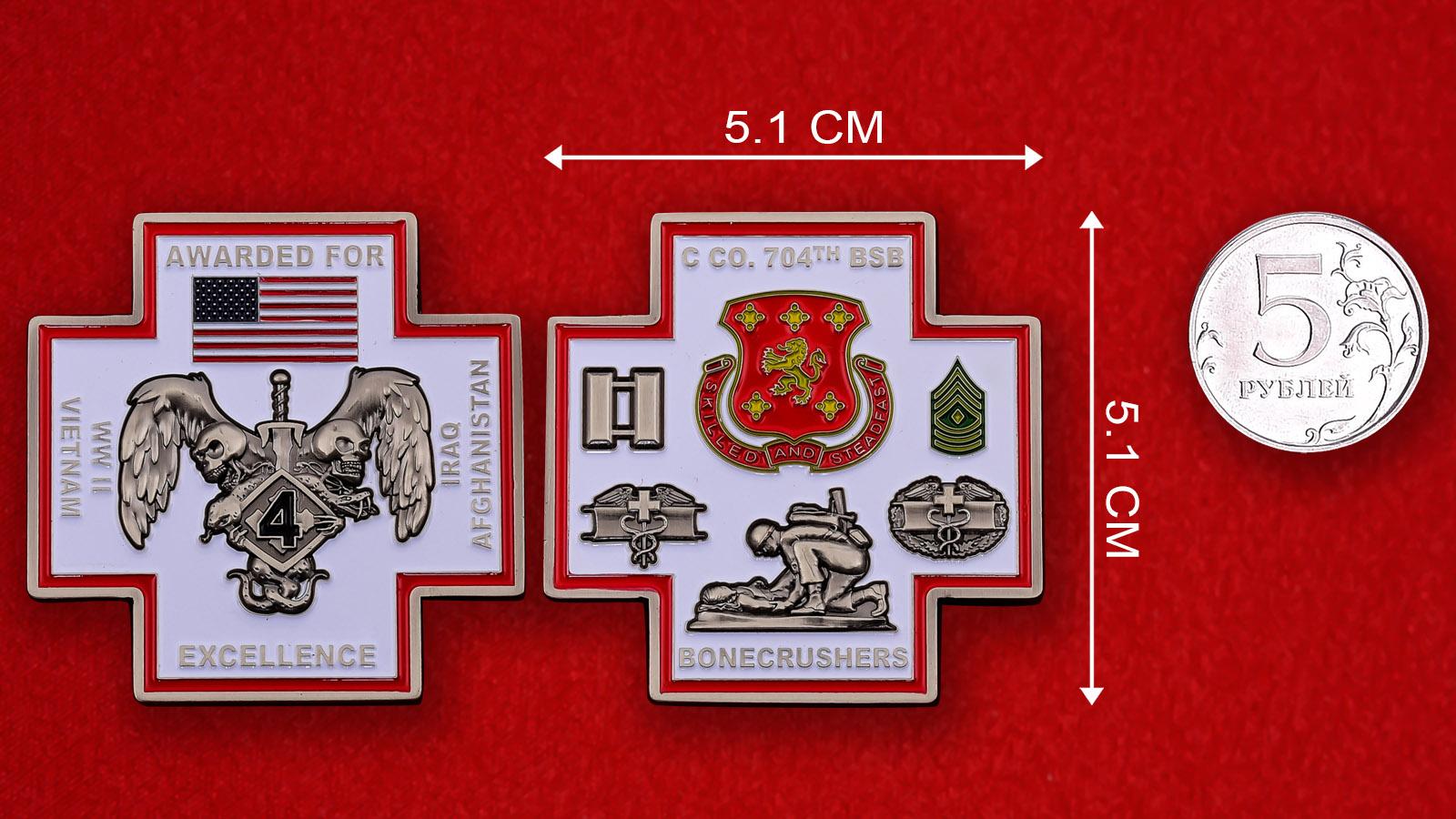 Челлендж коин Медицинской группы 704-го батальона поддержки 4-й бригадной тактической группы
