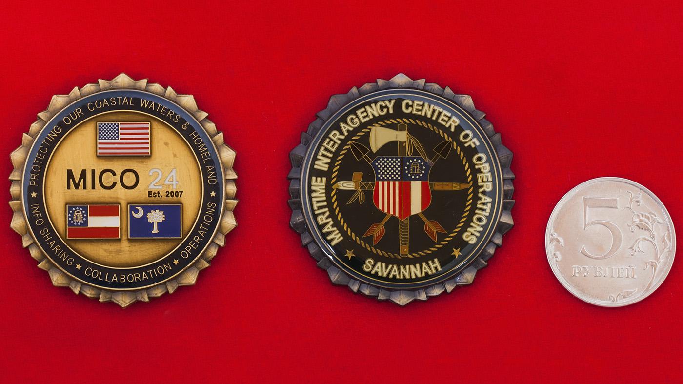 Челлендж коин Межведомственного оперативного центра береговой охраны в Саванне, Джорджия