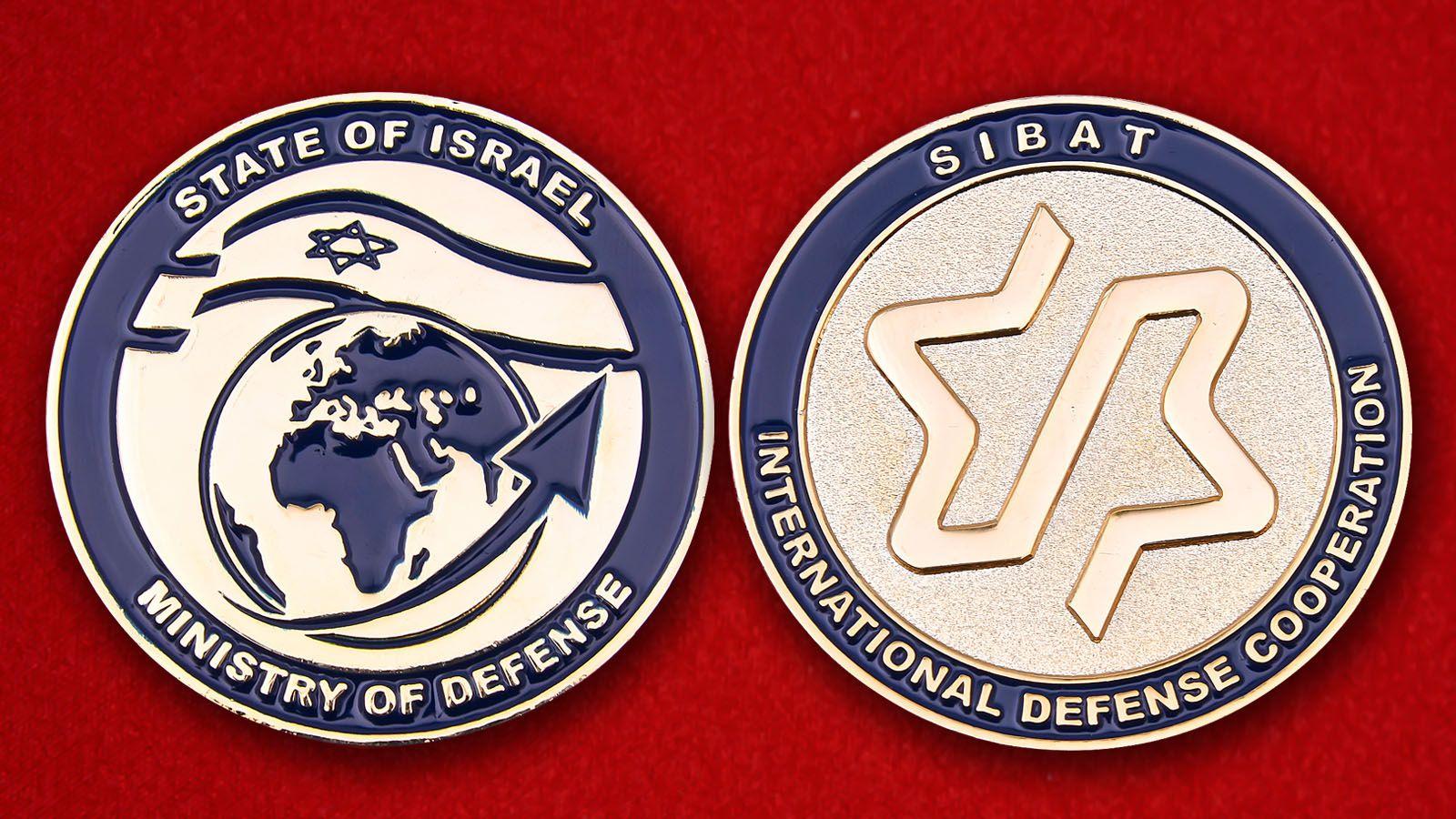 Челлендж коин Министерства обороны Израиля - аверс и реверс