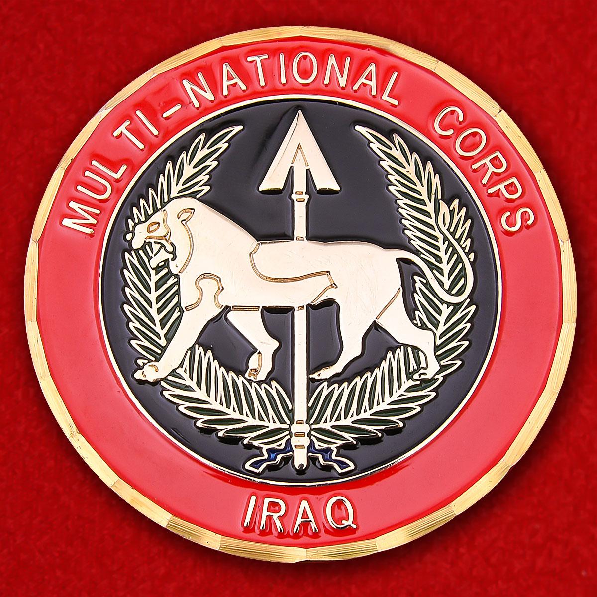 """Челлендж коин многонационального корпуса НАТО """"За операцию Иракская свобода"""""""