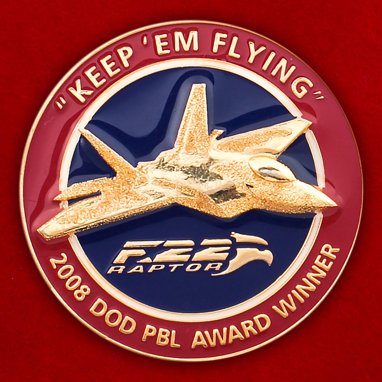 """Челлендж коин """"Многоцелевой истребитель F-22 Раптор"""""""