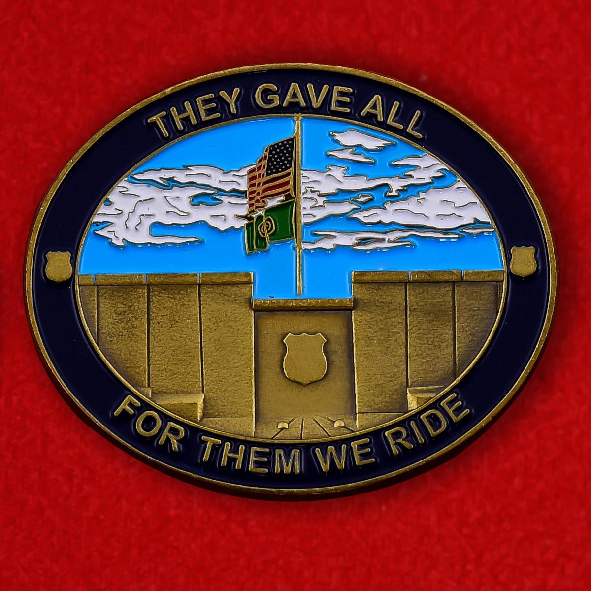 Челлендж коин мотопробега Forza 009 памяти погибших полицейских