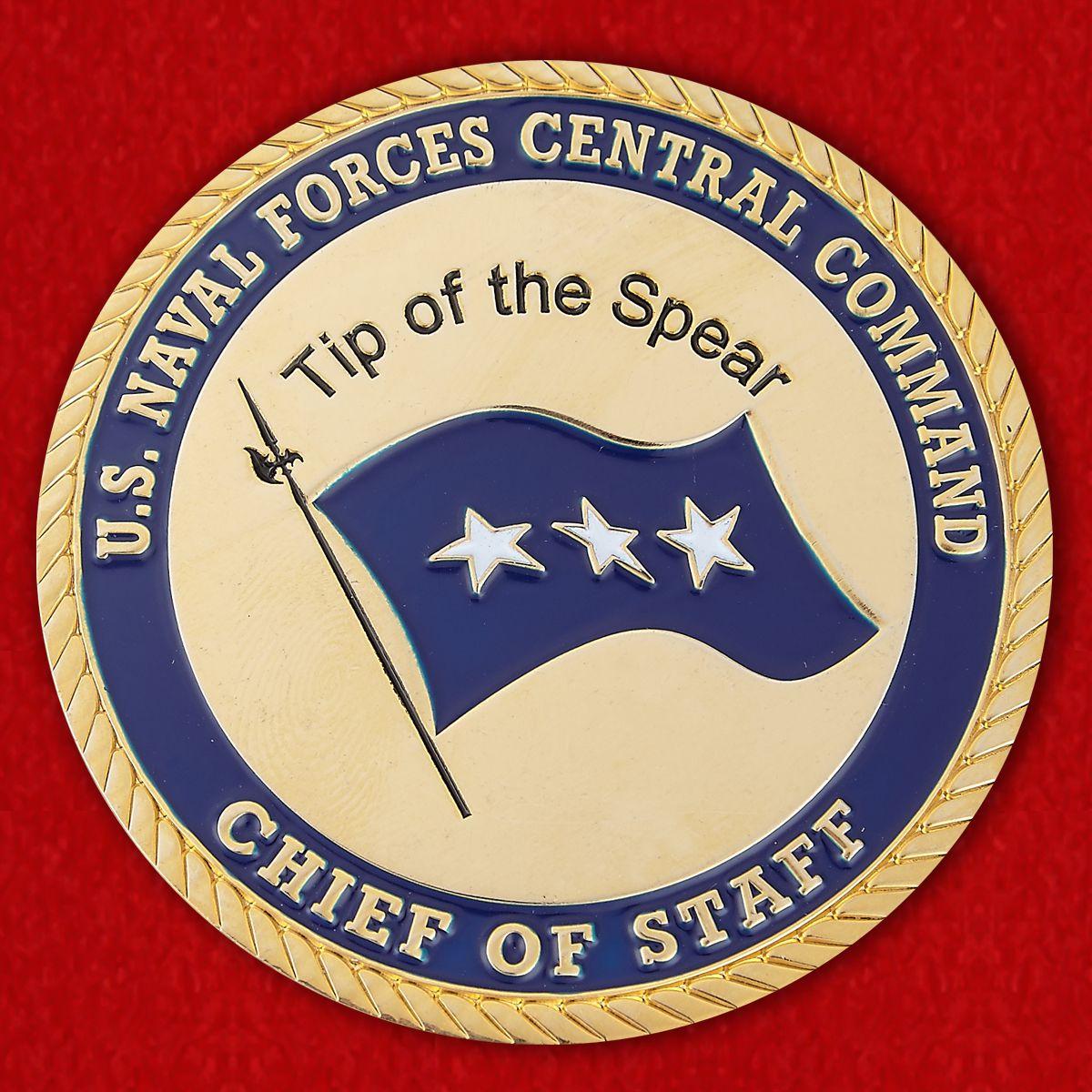 Челлендж коин начальника штаба Центрального Командования ВМС США