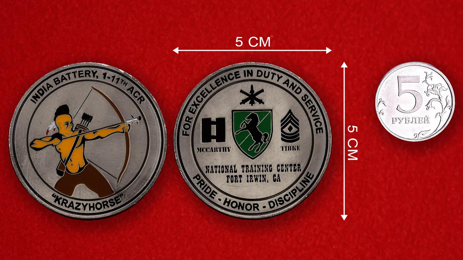 """Челлендж коин Национального учебного центра ВС США Форт Ирвин """"За выдающиеся заслуги"""""""