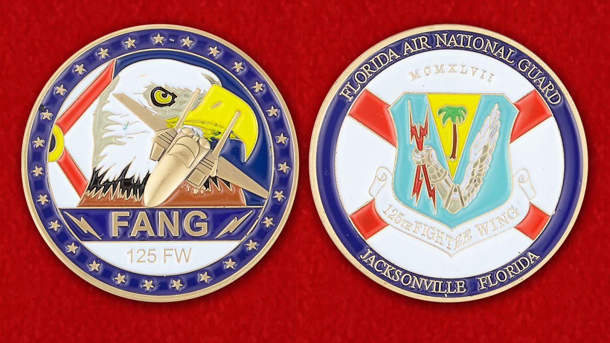 Челлендж коин авиации Национальной Гвардии Флориды - аверс и реверс