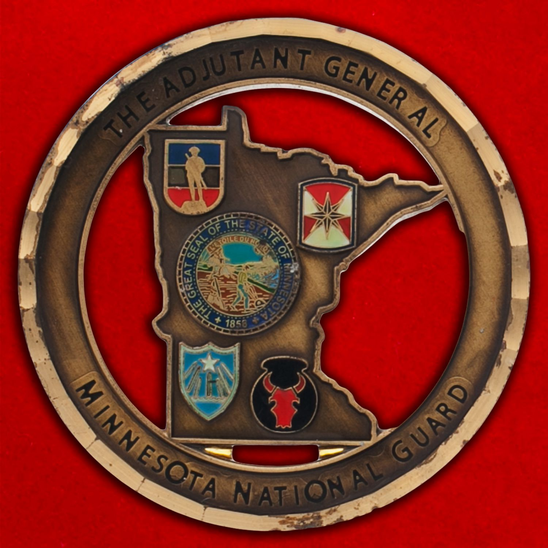 Челлендж коин национальной гвардии Миннесоты