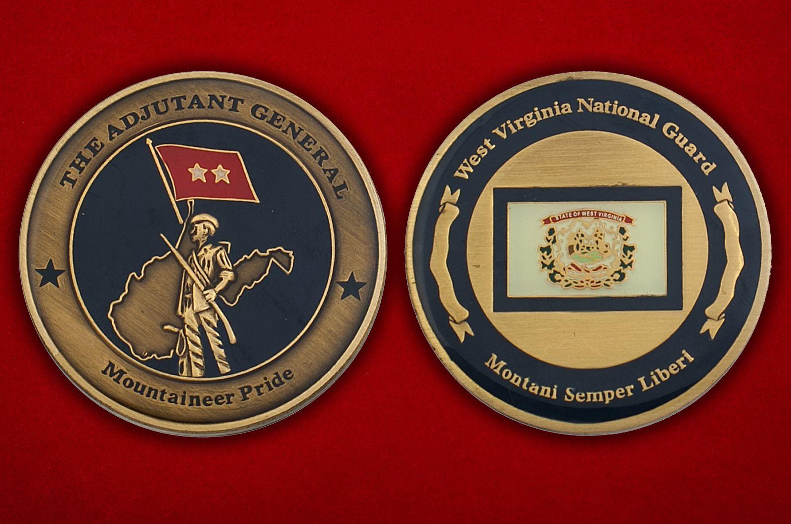 Челлендж коин Национальной гвардии США, штат Виргиния - аверс и реверс