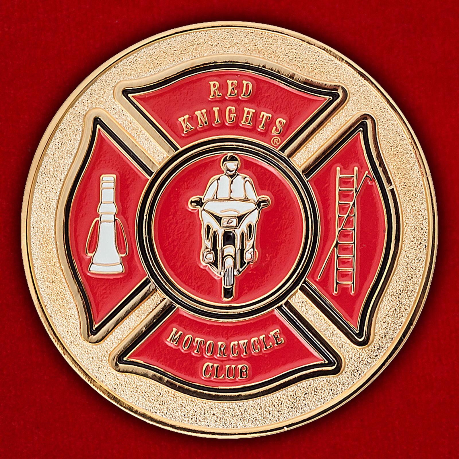 """Челлендж коин немецкого чаптера байкерского клуба пожарных """"Red Knights"""""""