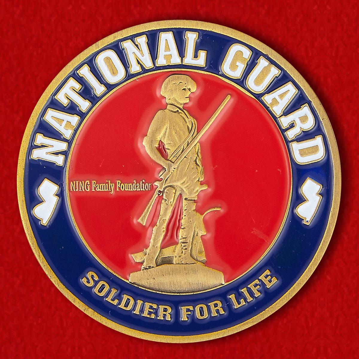 Челлендж коин Объединения военнослужащих Национальной гвардии США в отставке