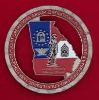 Челлендж коин Объединенного штаба Министерства обороны штата Джорджия