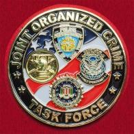 Челлендж коин Объединенной оперативной группы по борьбе с организованной преступностью силовых ведомств Нью-Йорка