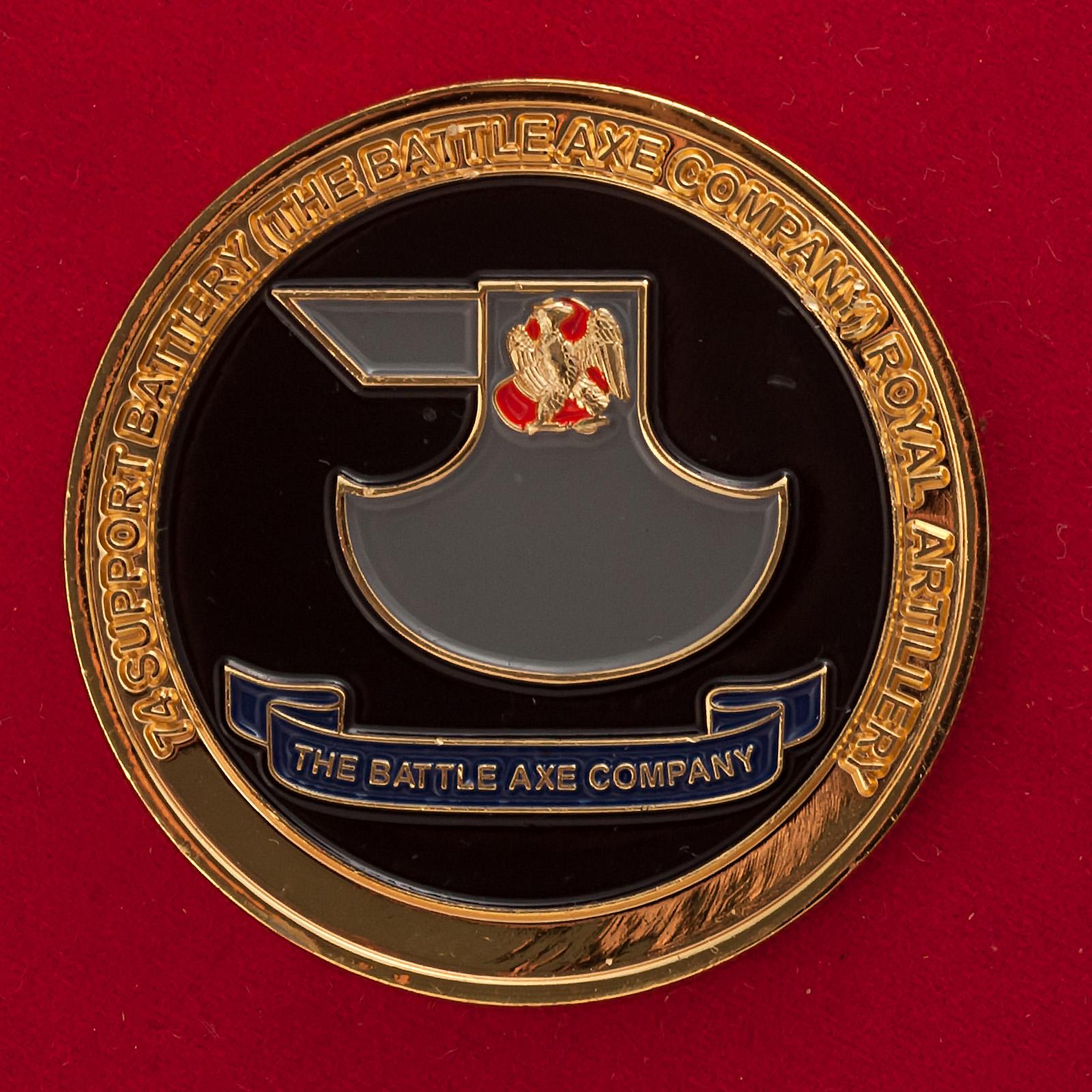 Челлендж коин офицеров 74-й артиллерийской батарии 1-й разведывательной бригады Королевской армии Великобритании