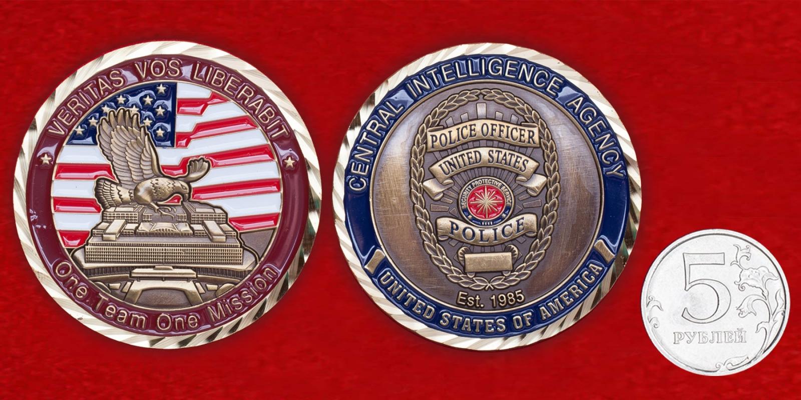 Челлендж коин офицеров полиции из Службы обеспечения безопасности ЦРУ