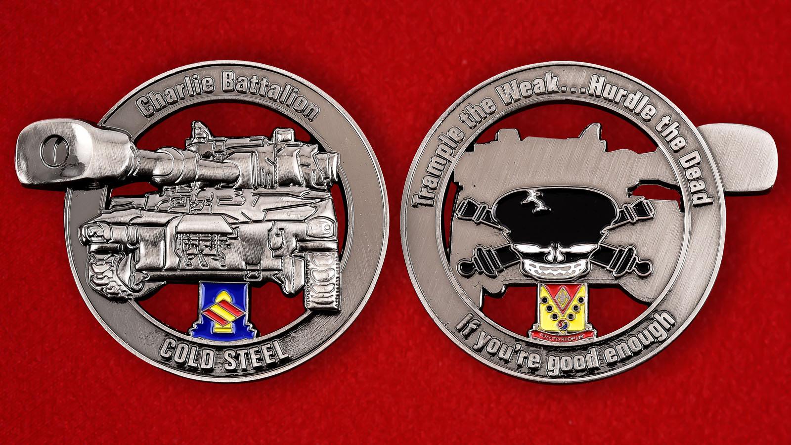 """Челлендж коин оперативной группы Чарли """"Холодное оружие"""" Корпуса морской пехоты США"""