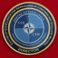 Челлендж коин от директора Центра повышения квалификации для операций в замкнутых и мелководных водах стран-членов НАТО