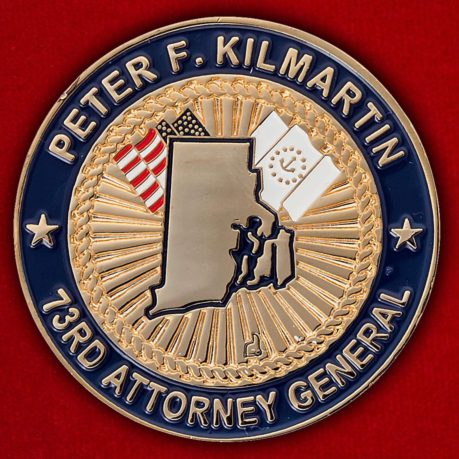 "Челлендж коин ""От главного прокурора штата Род-Айленд Питера Килмартина"""