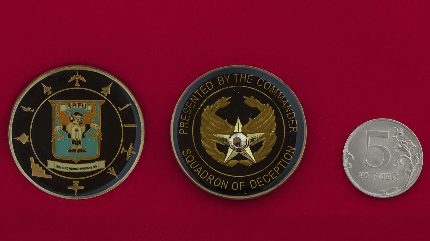 Челлендж коин от командира группы постановки помех 36-й эскадрильи РЭБ ВВС США