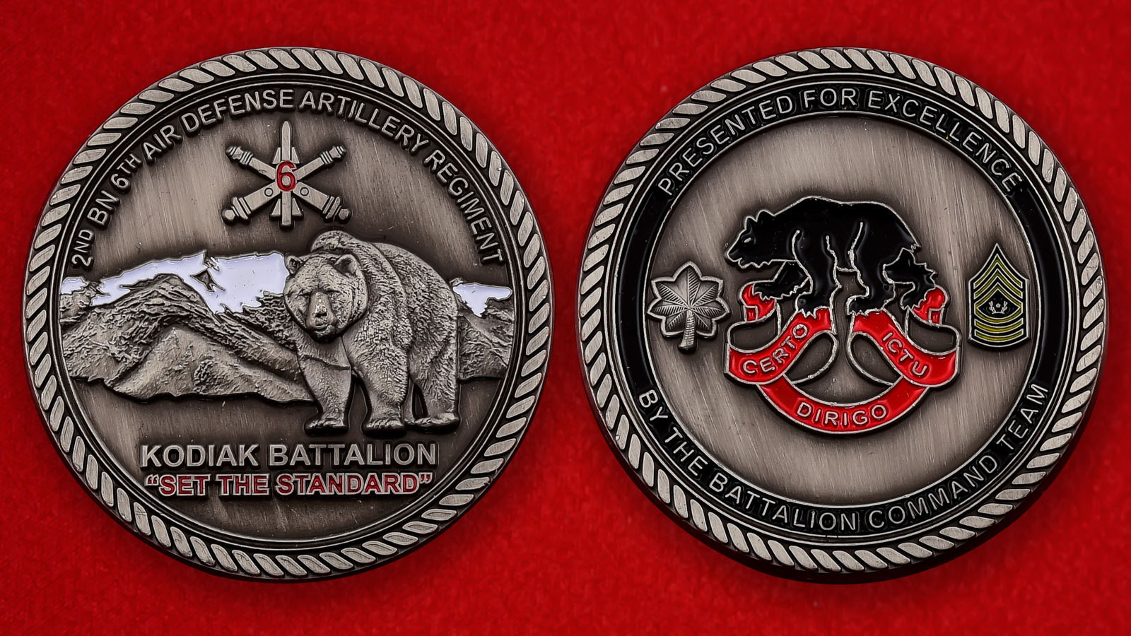 "Челлендж коин ""От командования 2-го батальона Кодиак 6-го полка ПВО"""