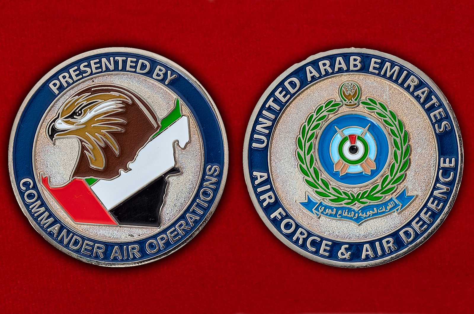 """Челлендж коин """"От командующего воздушных операций ВВС и ПВО ОАЭ"""""""