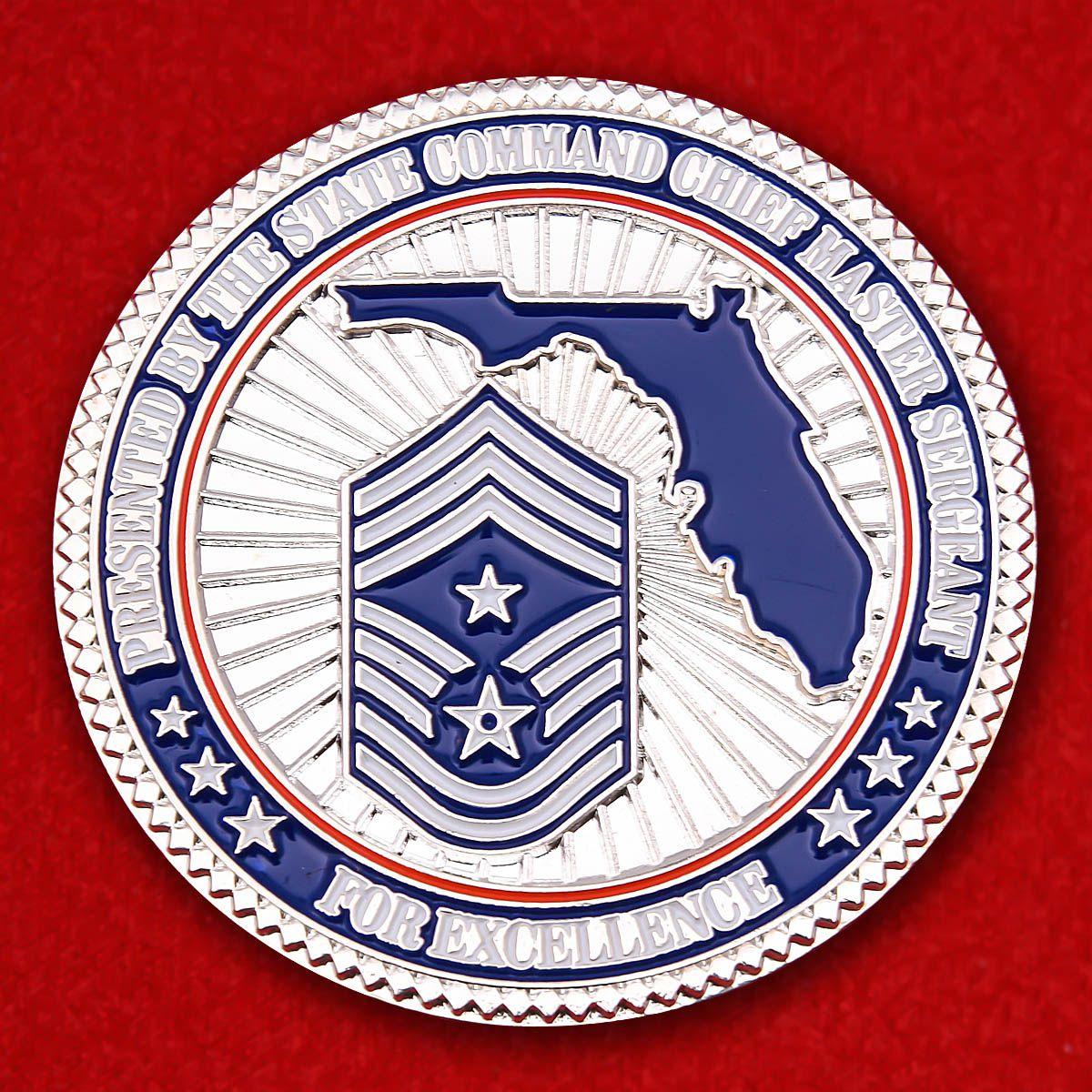 """Челлендж коин """"Мастер сержанта ВВС Национальной гвардии Флориды"""""""