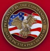 Челлендж коин от начальника штабного колледжа объединенных родов войск ВС США в Норфолке