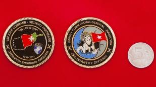 """Челлендж коин от заместителя командира 29-й пехотной дивизии """"За участие в операции Несокрушимая свобода"""""""