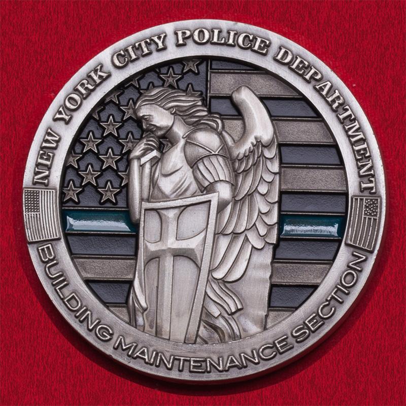 Челлендж коин отдела материально-технического обслуживания зданий полиции Нью-Йорка