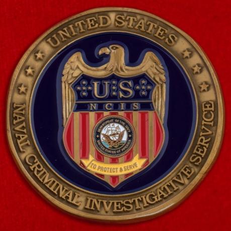 Челлендж коин отдела специальных исследований Следственного управления ВМС США