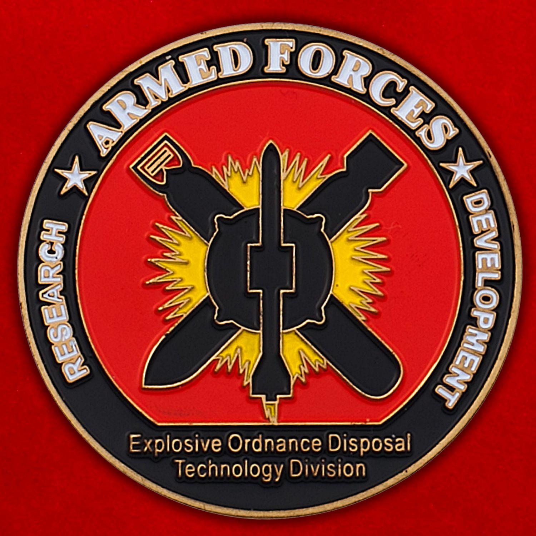 Челлендж коин Отдела технологий утилизации боеприпасов ВМС США