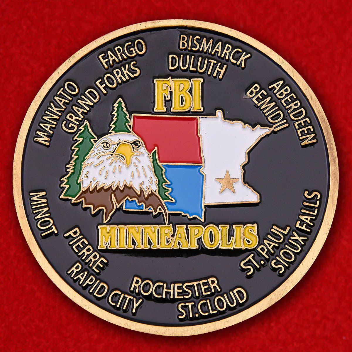 Челлендж коин Отдела юстиции ФБР Миннеаполиса