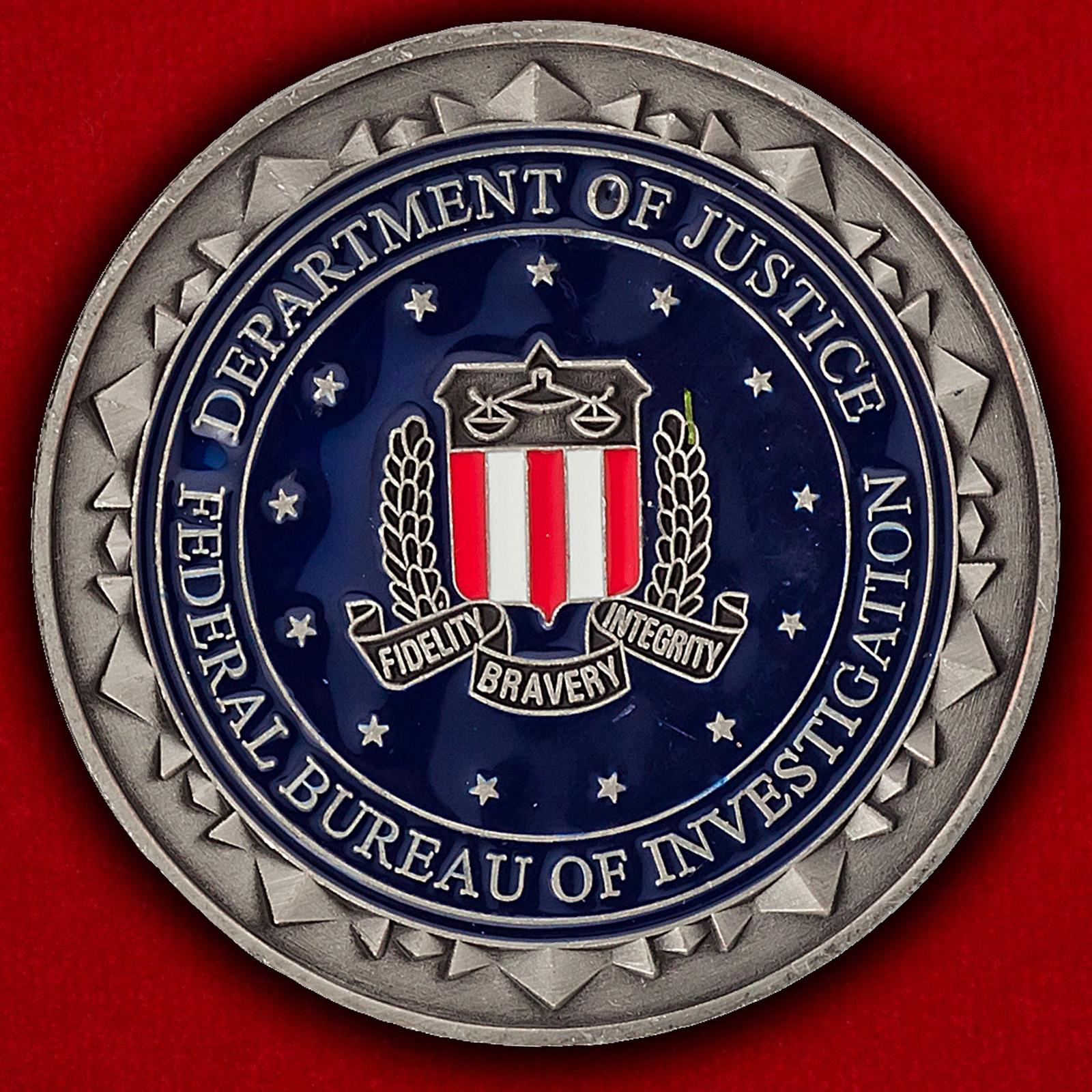 Челлендж коин отделения ФБР в Нью-Йорке