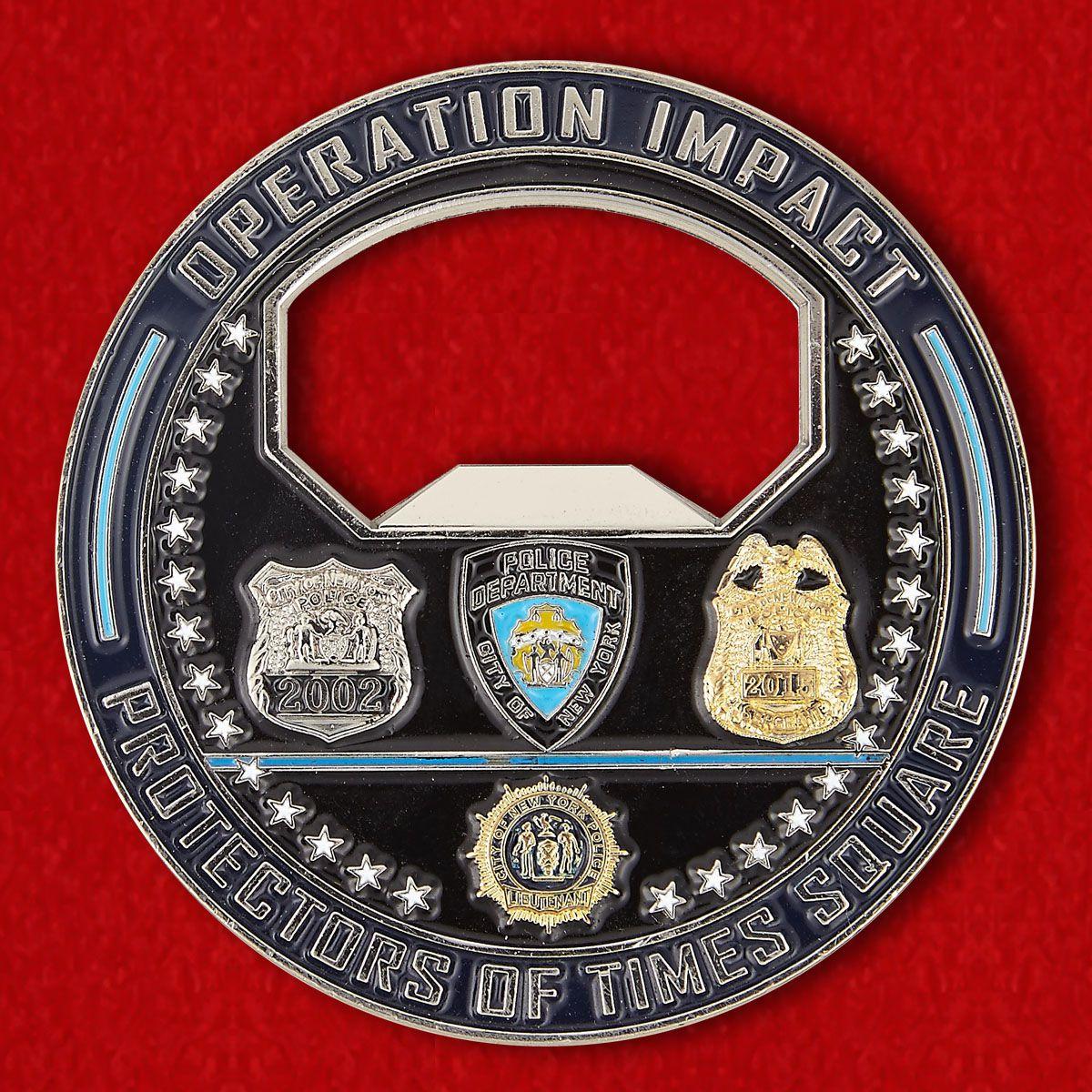 Челлендж коин-открывалка Департамента полиции Нью-Йорка