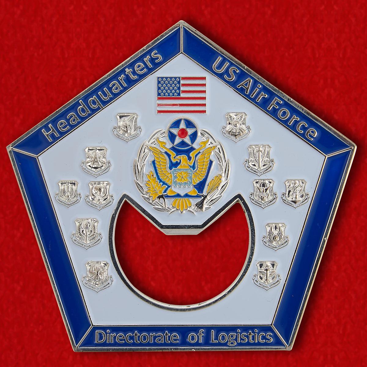 Челлендж коин-открывалка Управления снабжения при Штаб-квартире ВВС США