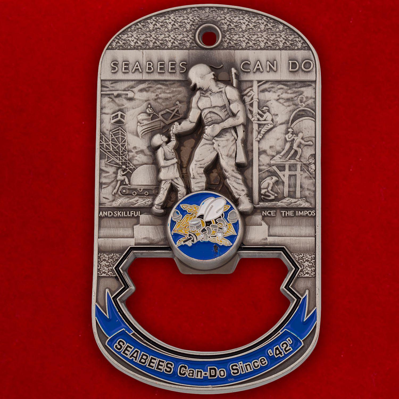 """Челлендж коин-открывалка """"Военно-строительное подразделение ВМС США на Окинаве"""""""