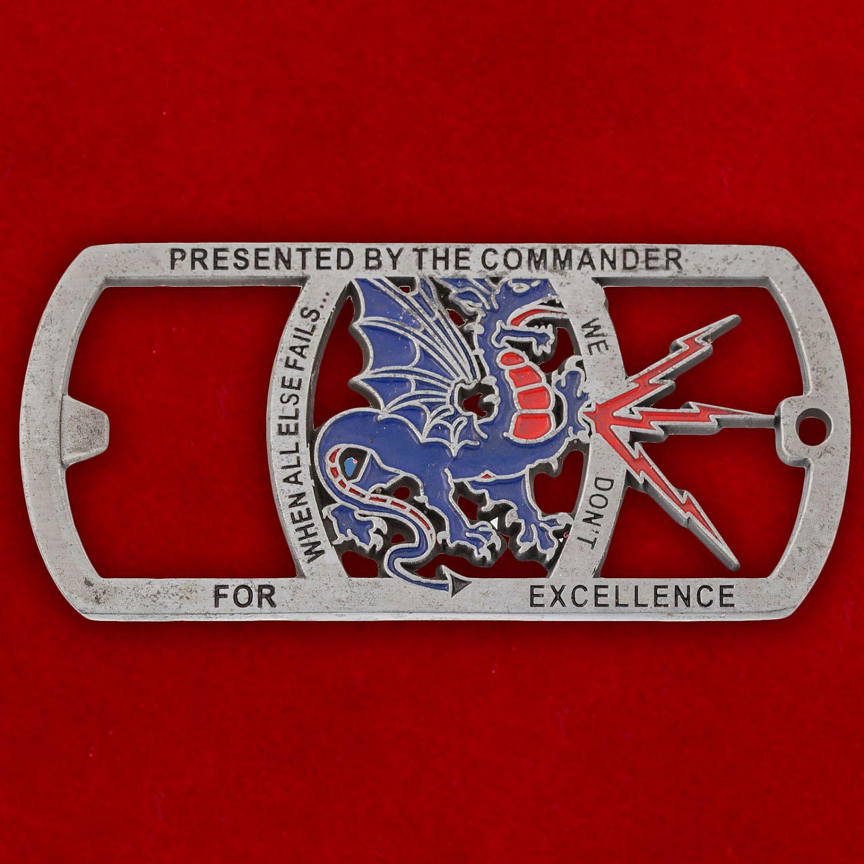 "Челлендж коин-открывашка ""1-й эскадрилье обслуживания связи ВВС США от командира"""