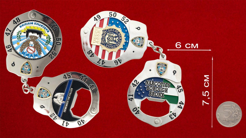 """Челлендж коин-открывашка """"Отдел по борьбе с наркотиками полиции Нью-Йорка, район Бронкса"""" - сранительный размер"""