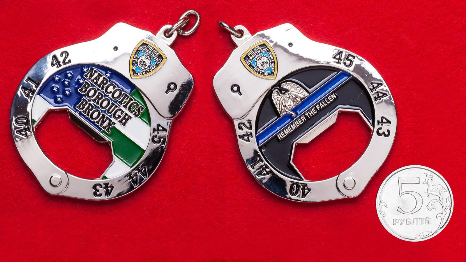 """Челлендж коин-открывашка """"Отдел по борьбе с оборотом наркотиков в Бронксе, полиция Нью-Йорка"""""""