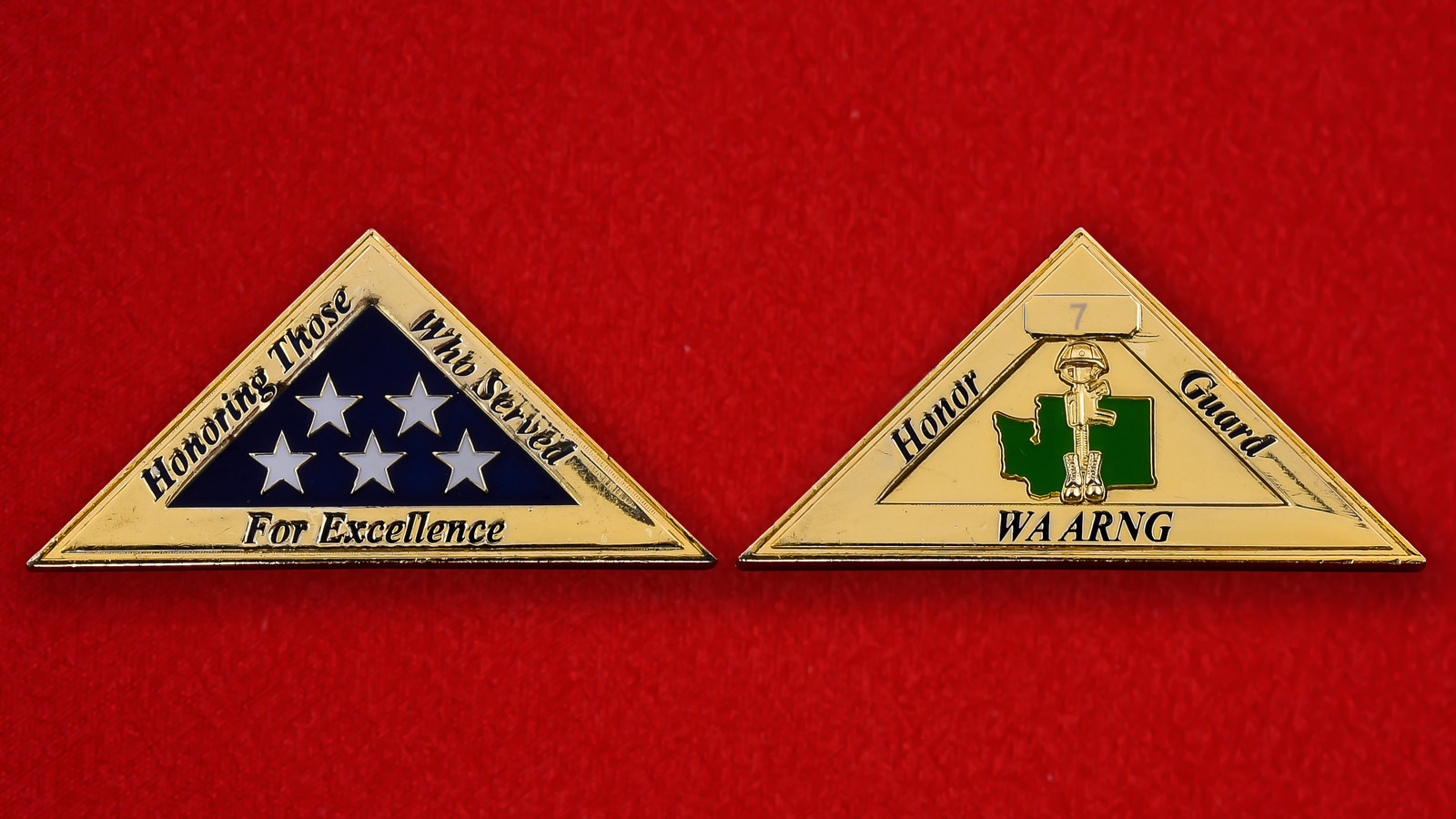 Челлендж коин Почетного караула Национальной гвардии США штата Вашингтон