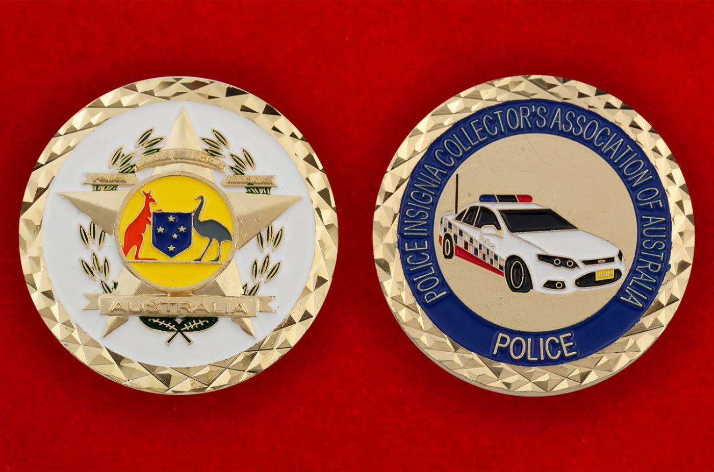 Челлендж коин полиции Австралии - аверс и реверс