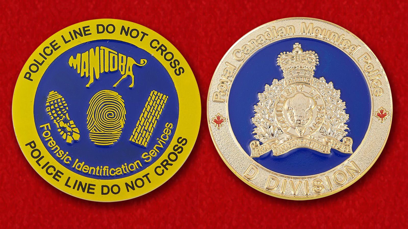 Челлендж коин полиции Манитобы - аверс и реверс