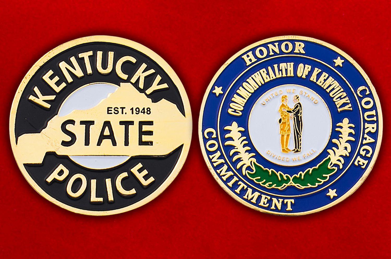 Челлендж коин полиции штата Кентукки - аверс и реверс