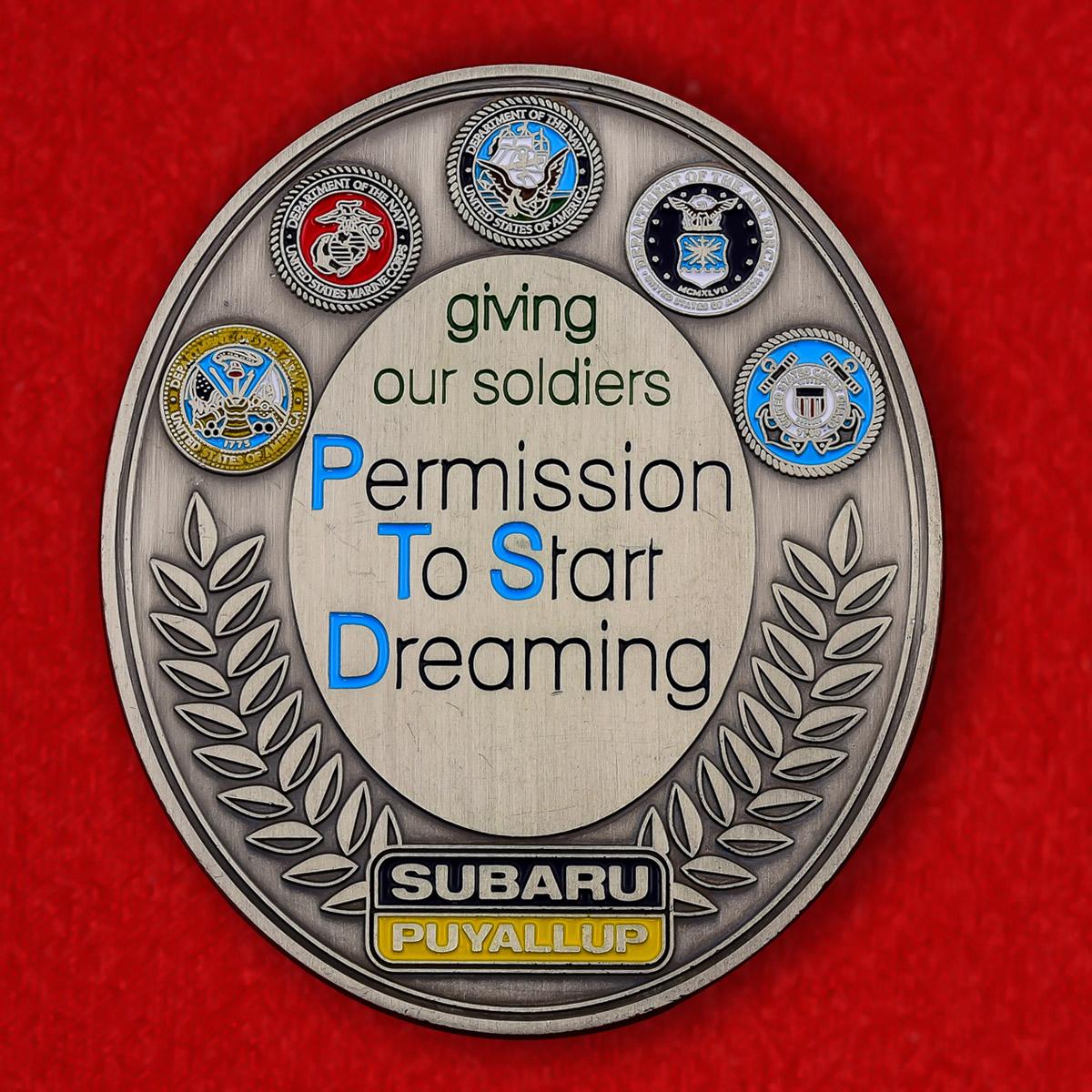 """Челлендж коин """"Полумарафон в поддержку военнослужащих США в Гиг-Харборе, штат Вашингтон"""""""